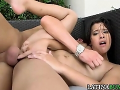 Cumshot In Brashness For Sexy Latina