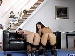 British milf doggystyled in euro threesome