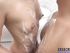 girl rubs the brush sassy pussy for you japanese