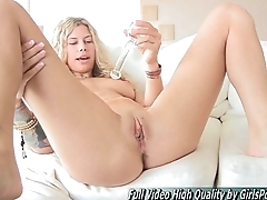 Lila sexy beauteous tits toys anal