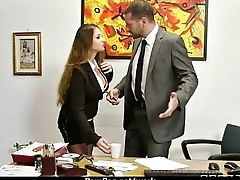 Milf was hard fucking on office desk 14