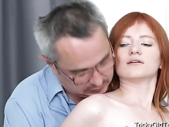 Tricky Old Teacher - Old teacher tricks Dear Red into sex for grades