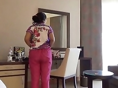 Shy Indian Bhabhi In Hotel Room Concerning Her Newly Married Scrimp Honeymoon