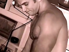 Sexy muscular studs in a romantic scene with great chemistry