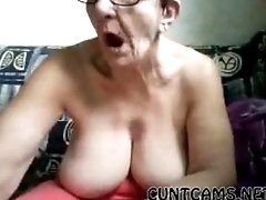 Old Mature Granny Plays With Herself in Retirement Abode on Webcam - Here at cuntcams.net