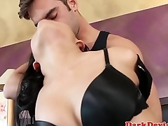 Asian sub dominated with dick by maledom