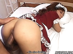 Hot and sexy maid with pointy nipples getting fucked repudiate