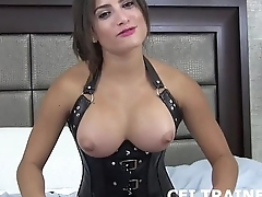 Toss out your cum down your own throat CEI