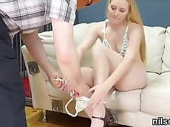 Queer chick is brought in anal loony proboscis be fitting of awkward treatment