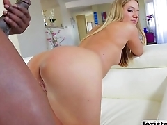 Blonde Candices tight butt gets destroyed away from Lexs BBC