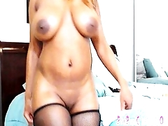 Busty Big Booty Nyla Storm Fucks Her Toys &amp_ Bounce Her Butt for Her Webcam Lover