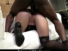Amateur milf having interracial sex at one's fingertips home 4