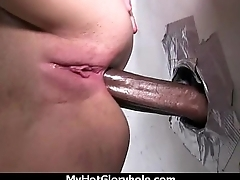 Ebony backs her booty all about the in the same manner to the gloryhole 17