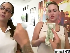 For Money Hard Sex Action With Easy Seduced Girl (Esmi Lee&amp_Kendra Lynn) clip-12