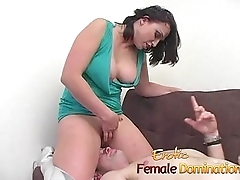 Busty brunette slut sucks on a throbbing meat pole really permanent