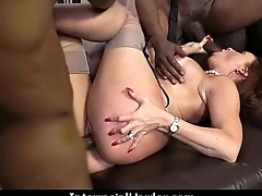 Horny milf having interracial sex 14