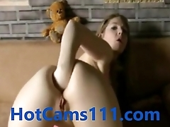 Hot German Teen Fisting Her Arse on Cam