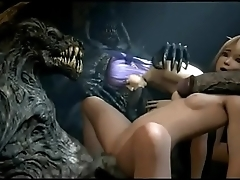 【Awesome-Anime.com】3D Anime - Marie Flesh-coloured fucked by monsters (from Dead or alive)