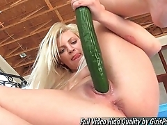 Mature Alex tow-headed fisting and stick cucumber