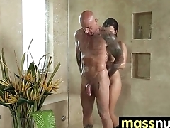 Nuru Massage Ends with a Hot Shower Fuck 24