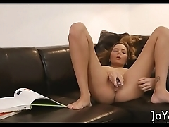 Solo angel rubs itching vagina