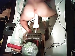 Hot gaping Ass gets pounded by Fuckmachine