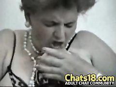 Granny plays with hairy pussy beautiful mature lady masturbation amateur