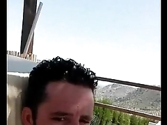 Naked str8 spanish tramp on pool - live on periscope