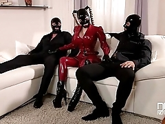 Latex Lucy Mystery Masks Latex Loving Threesome