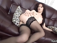 Wicked stunner gapes her crack and loves hardcore sex