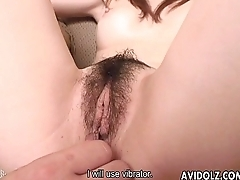 Rubbing and sex toy fucking her wet pussy pie