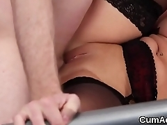 Sexy peach gets cumshot on her face swallowing all be passed on exclaim
