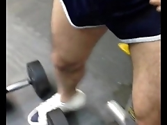 Got piss showered while working out in a public gym