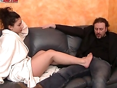 The Fair game Of Elisa First Part - Footjob