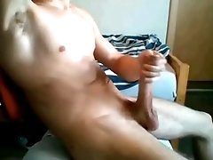 The college roommate from Rome: hot guy waste time off his big cock