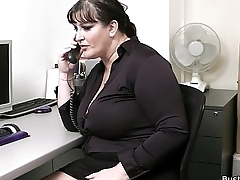 Office sex with respect to busty women being done