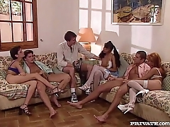 DP Orgy With Three Sluts
