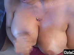 Charlee Chase Likes Cum Alongside Her Tits!