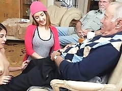 Dirty Elderly Man Sucked Off By Two Teens Needed