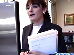 Pussyrubbing realtor gives buyer a treat