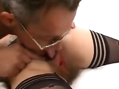 Old french lady gets a pounding and gets fisted